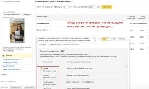 Всегда создаем свои списки минус слов Яндекс Директ