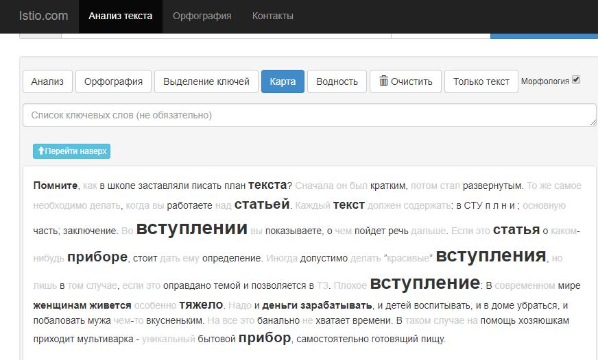 SEO анализ istio.com